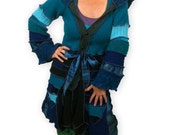 ESPECIALLY for BONNIE-- Custom Creation -- Recycled Sweater Coat -- Balance