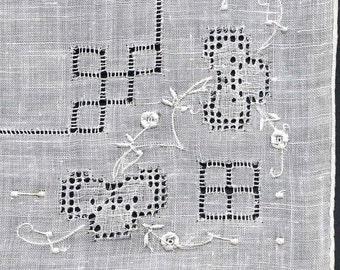 Vintage Hand Stitched Handkerchief
