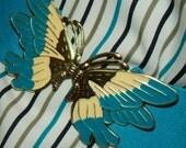 ENTIRE SHOP SALE Vintage - Butterfly stretchy Belt - Buckle