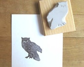 Owl Silhouette - Hand Carved Stamp