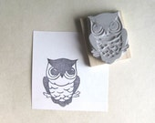 Little Owl - Hand Carved Rubber Stamp