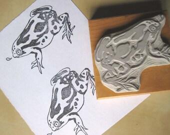 Little Frog - Hand-Carved Stamp