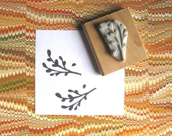 Tiny Branch - Hand Carved Stamp