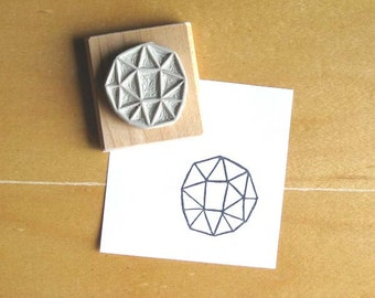 Crystal Configuration 10 - Hand Carved Stamp