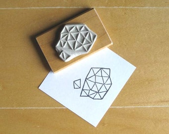 Crystal Configuration 13 - Hand Carved Stamp