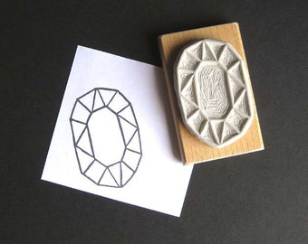 Crystal Configuration 17 - Hand Carved Stamp