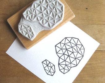 Crystal Configuration 26 - Hand Carved Stamp