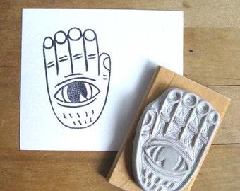 Evil Eye Hand Carved Stamp
