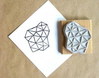 Crystal Configuration 31 - Hand Carved Stamp