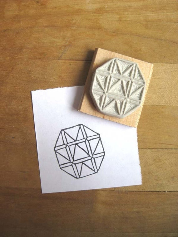 Crystal Configuration 04 - Hand Carved Stamp