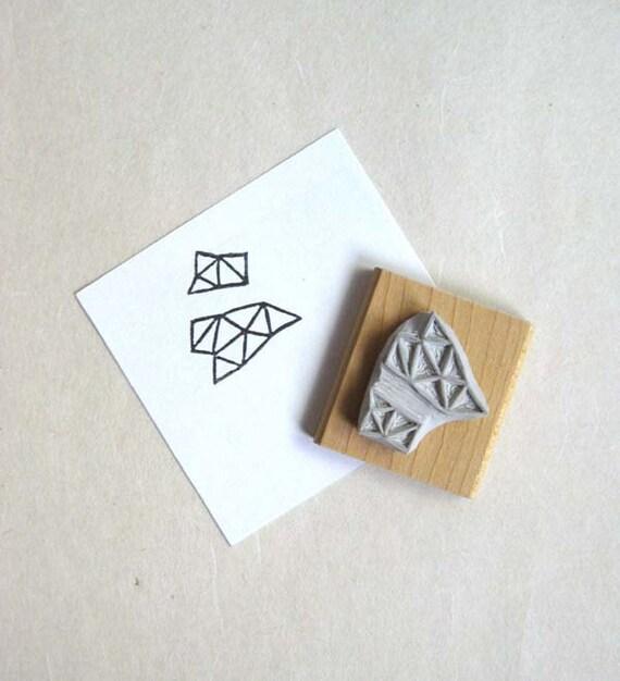 Crystal Configuration 28 - Hand Carved Stamp
