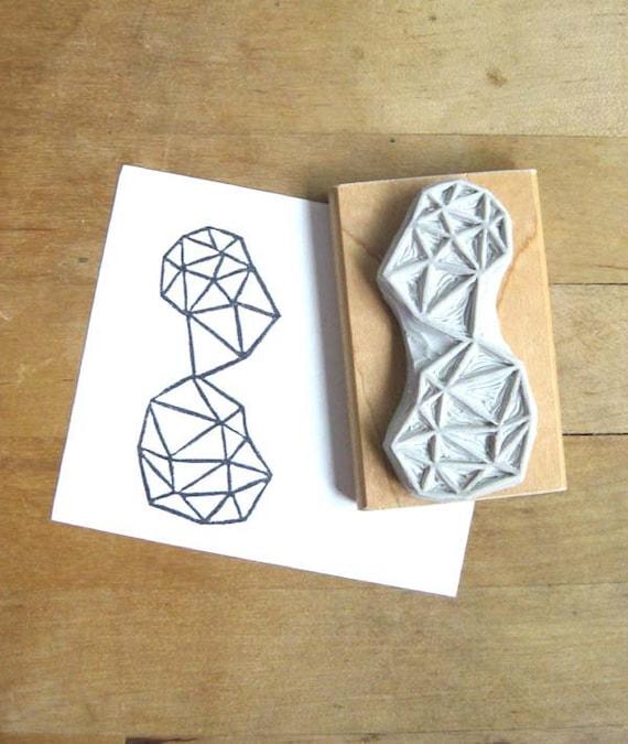 Crystal Configuration 29 - Hand Carved Stamp