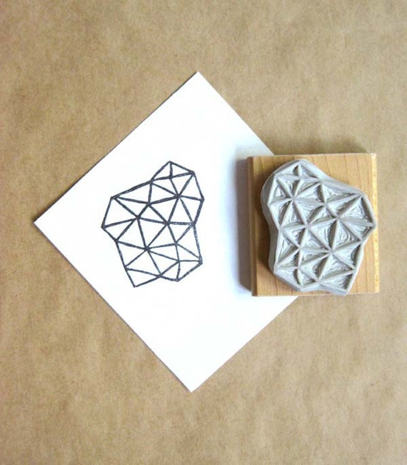Crystal Configuration 31 - Hand Carved Stamp