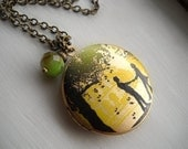 Just the Two of Us - A Mod Charm Locket Necklace