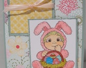 Happy Easter Bunny OOAK card