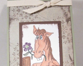 WINE BOTTLE gift tag - Great idea for gift - HORSE Lover