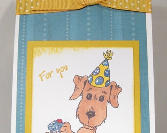 WINE BOTTLE gift tag - Great idea for gift - BIRTHDAY - Dog - Cupcake