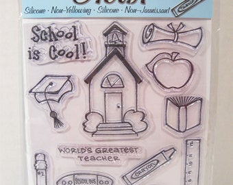 DeSTASH - clear stamp set -SCHOOL DAYS