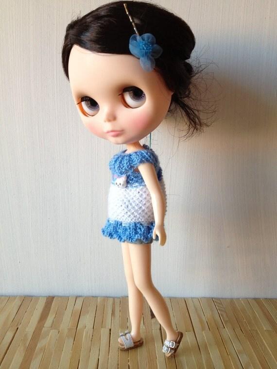 Little Kitty Mini Dress Set for Blythe Doll