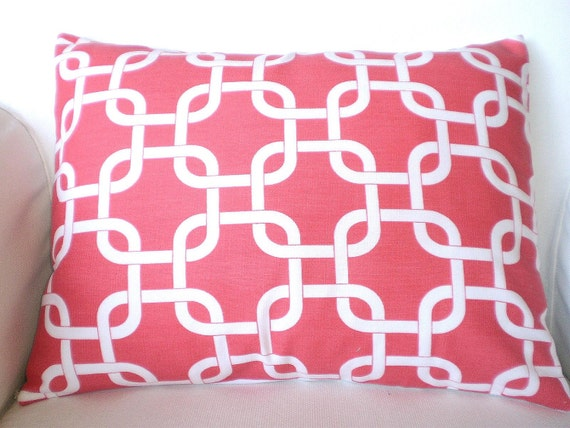 coral lumbar pillow cover decorative throw pillow cushion covers
