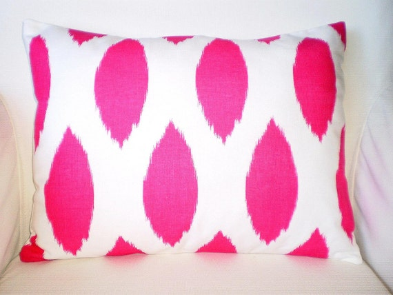 Pink White Pillows Decorative Pillow Lumbar Cushions Throw