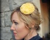 Yellow Flower Headband, Large Peony Flower for Women and Teens