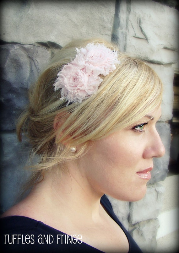 Shabby Chic Headband in Soft Pink for Women and Girls