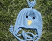 New Sweet Blue bird hat 10 dollars 0to24 months made to order