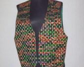 Ethnic Print Vest