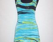 Vintage 1990s Mini Dress Tropical Design