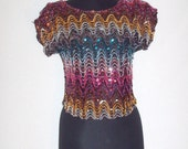 Vintage 1980s Sequence Cropped Top