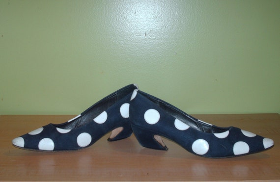 Navy White Polka Dot Shoes