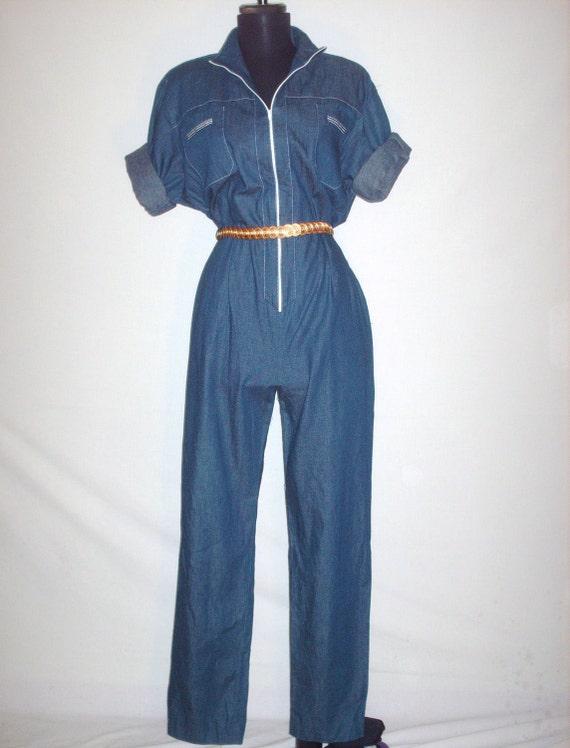 Vintage Early 80s Denim Jumpsuit