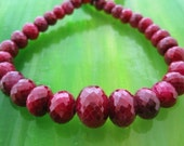 faceted ruby necklace