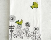If You Love Something Let it Go Screen Printed and Hand Colored Flour Sack Cotton Dish Cloth