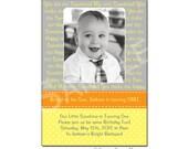 Photo Birthday Invitation, You are my Sunshine, Printable Digital File, Yellow, Orange 1st Birthday 2nd Birthday, 3rd Birthday
