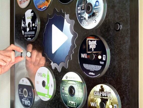Disc Mount - Magnetic Game Disc Organizer - 12 Pack, Black