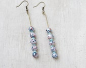 FREE SHIPPING - 3 1/4 inch drop earrings made from vintage beads
