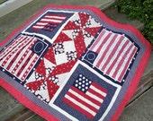 Americana lap quilt