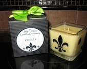 12 oz Soy Cube Candle with Saints Decor - Any Scent