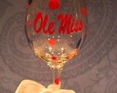 Ole Miss Wine Glass