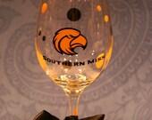 Southern Miss Wine Glass