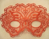 Pink Butterfly Lace Mask