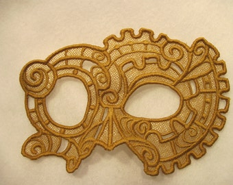 Steampunk Lace Mask in Copper