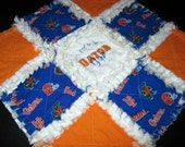 Florida Gators UF Blue Orange Baby Girl Minky Mini Rag Quilt Lovey