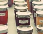 Still Life Photograph, Jam Jars, 5x5 Print, Vintage Colors, Food Photoraphy, Retro