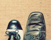 Whimsical Portrait, She and Him, Shoes Photograph, Wedding, Anniversary, Love, Romance, Modern, Hipster, Fine Art Photo