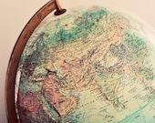 Globe Photograph, Still Life, Retro, Vintage, Minimal, Pastel Color, Wanderlust, Fine Art Photo, Nursery Art, Home Decor