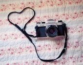 Still Life Photography, Pentax Camera Love, 5x7 Print, Heart, Floral, Natural Light, Fine Art Photo