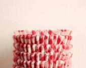 Still Life Photograph, Kitchen Art, Minimal, Red, White, Whimsical Photo, Baking, Kitchen Decor, Cafe Art, Retro Cupcake Liners, Square